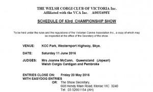 June 2016 Championship Show