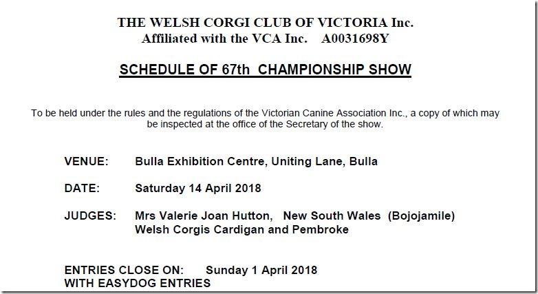 67th Championship Show - April 2018