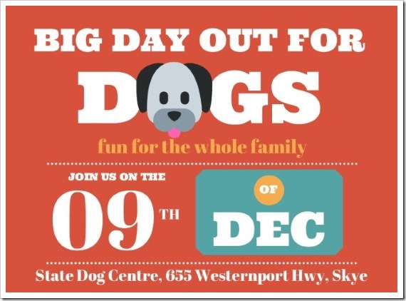 Big Day Out for Dogs 2018 Flyer