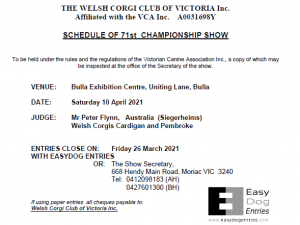 April 2021 Championship Show